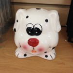 Ceramic dog bank