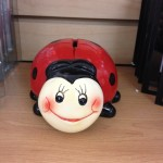 Ceramic lady bug bank