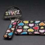 Compact wristlet zipper pouch for the girl on the go hearts