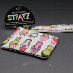 Compact wristlet zipper pouch for the girl on the go shoes