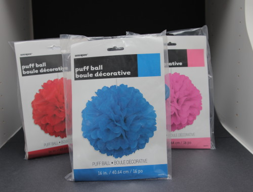 Party Puff Balls colors